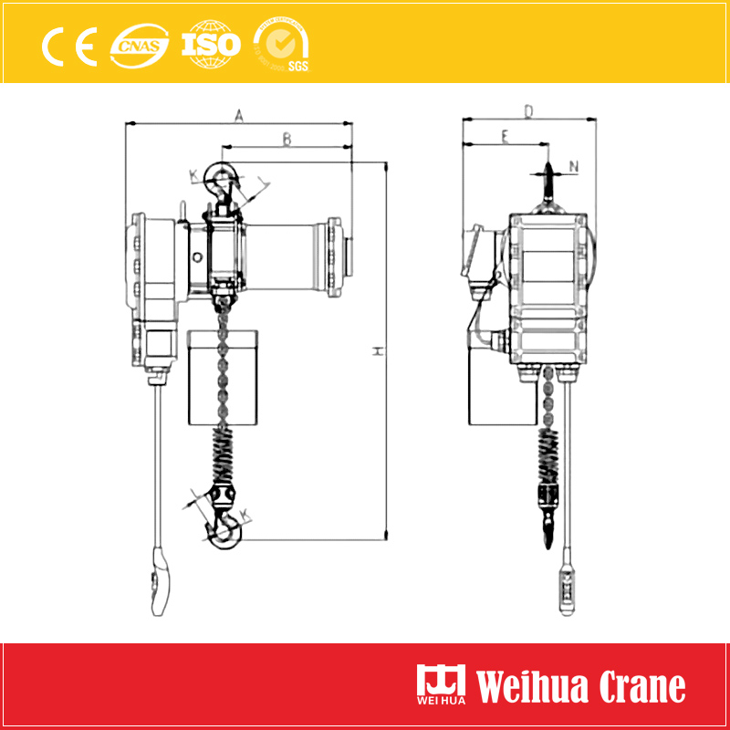 Explosion Proof Chain Hoist Drawing