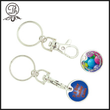 Custom printing logo coin metal key rings