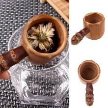 Natural Bamboo Tea Strainer Infuser Filter Tea Tools Sieve For Tea Brewing Tea Drinkware Accessories Colander Gadgets