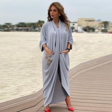 Kaftan Abaya Dubai Turkey Hijab Muslim Fashion Kimono Cardigan Mujer Caftan Islam Abayas For Women American Clothing Robe Femme