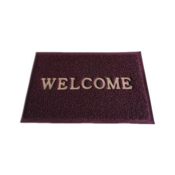 Super shaggy pvc custom welcome door mat