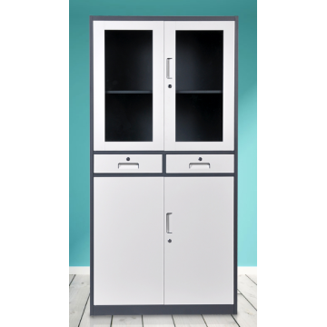 4 door file cabinet storage cupboard with drawers
