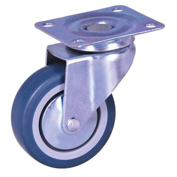 3-inch plate mounted swivel caster with TPE wheels