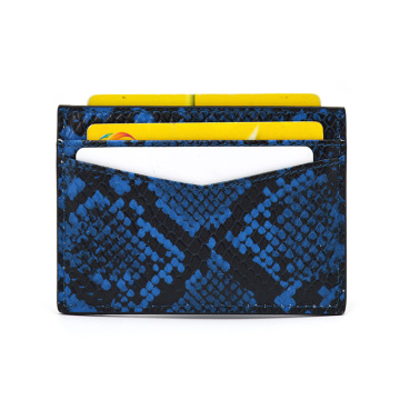 Genuine Python Leather Credit Card Holder for Gift