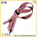 Clothing fancy 40cm long purple metal zipper