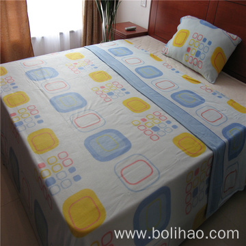 One Side Brushed Fleece Printed Bed Sheet