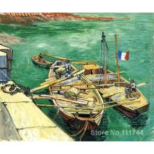 Modern art Sand Barges by Vincent Van Gogh paintings for living room Hand painted High quality