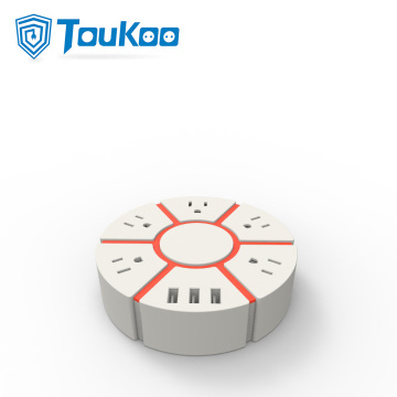 USB socket American extension cord power strip