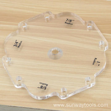 3pcs/set Router Radius Templates
