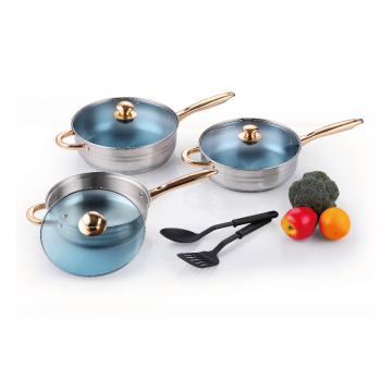 Cookware Set with Nylon Kitchen Tools