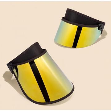 Gold half and full face UV shield visors