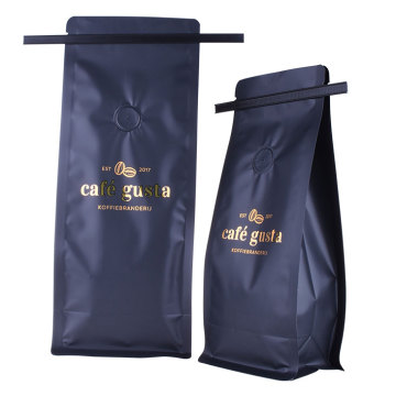 China Manufacturer Custom Logo Design Coffee Valve Bags With Tin Tie