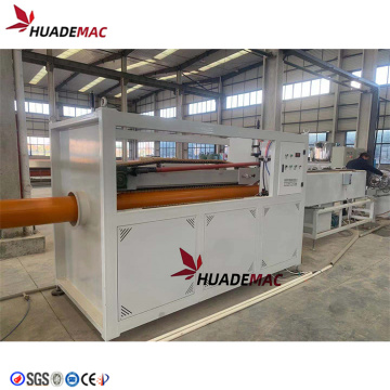 Production line machine for plastic PVC pipe