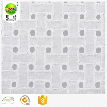 100% cotton eyelet embroidery fabric