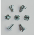 Zinc Plating Half thread Jagged 4 prong T-Nuts