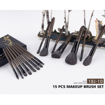 15pcs high quality silver handle makeup brushes set