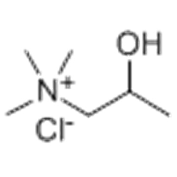 1-Propanaminium,2-hydroxy-N,N,N-trimethyl-, chloride (1:1) CAS 2382-43-6