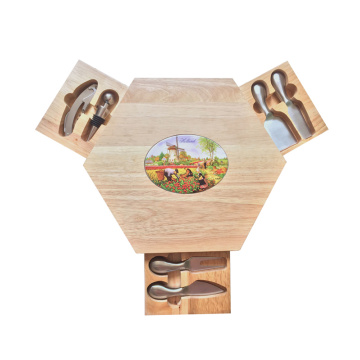Triangle wooden cheese cottage oak cheese board