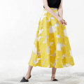 Women Ankle Length Fashion High Waist Skirt