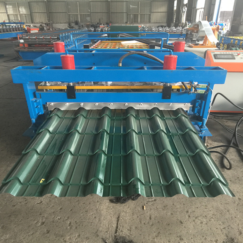 Customized Glazed Tiles Metal Roll Forming Machinery