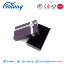 Lid and Base Bracelet Paper Box with Ribbon