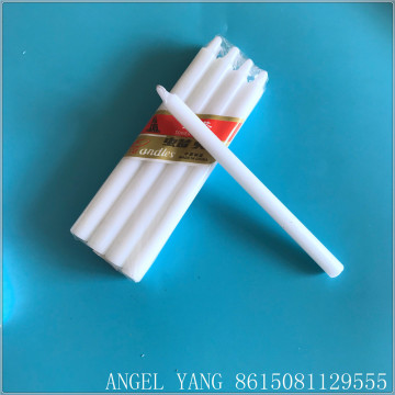300G WHITE STICK PILLAR CANDLE MAKING OEM LABEL CANDLE