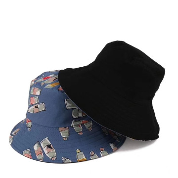 Cartoon bucket hat army camouflage custom