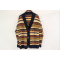Custom Retro Ethnic Thick Style Striped Cardigan