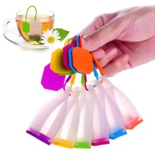 1Pc Bag Style Tea Infusers Silicone Tea Strainers Herbal Spice Tea Infuser Filters Scented Kitchen Drinking Coffee Tea Tools