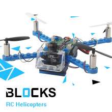 DIY RC Drones Building Blocks Drone 2.4G 4CH Mini 3D Bricks Quadcopter Assembling Educational Toys Helicopter