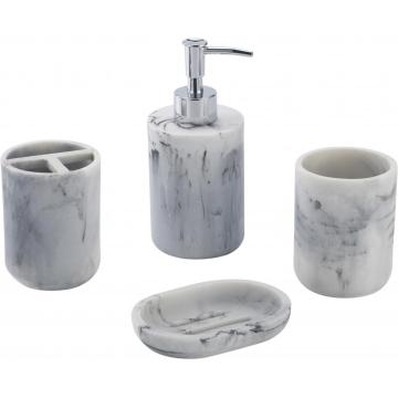 Stone grain Bathroom Accessory Set 4-piece
