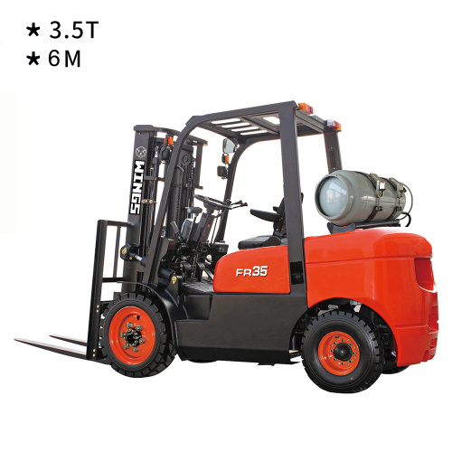 3.5 T Gasoline&LPG Forklift 6m Lifting Height