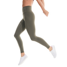 Yoga gym workout leggings with tummy control panel