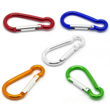 Light duty Colorful Carabiner Snap Hook with Swivel Buckle