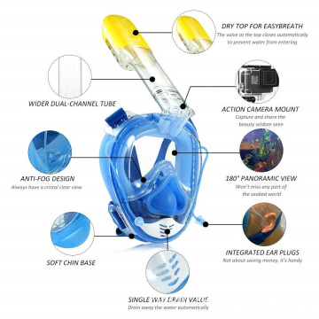 The diving assistant high quality snorkel mask