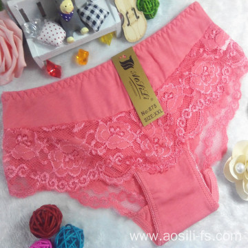 New style China wholesale panty cheap watermelon red sexy girl lace cotton fancy underwear 875