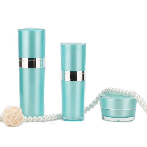 Luxurious Cyan Packaging Acrylic Cosmetic Bottles