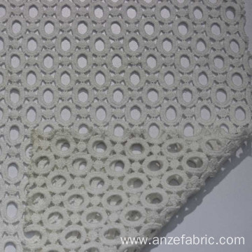 Hole design chemical lace fabric cotton embroidery fabric