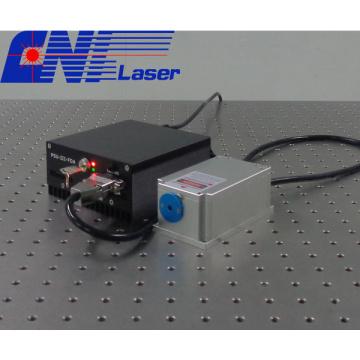 Red narrow linewidth diode laser for confocal microscopy