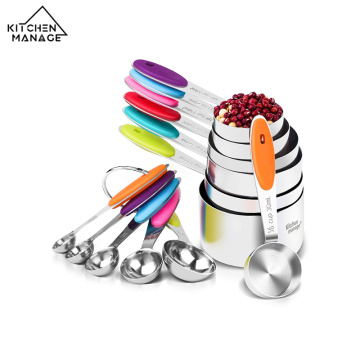 Stainless Steel Measuring Spoon And Measuring Cup