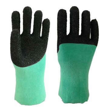 Light Green PVC Glove.Black Foam Finish
