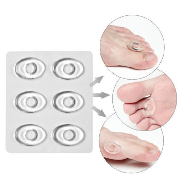 6 Pieces/Box Foot Remover Pad Feet Medical Gel Silicone Foot Corn Removal Patch Health Care Pain Relief Patch Foot tool