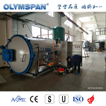 ASME standard small fiber glass part treatment autoclave