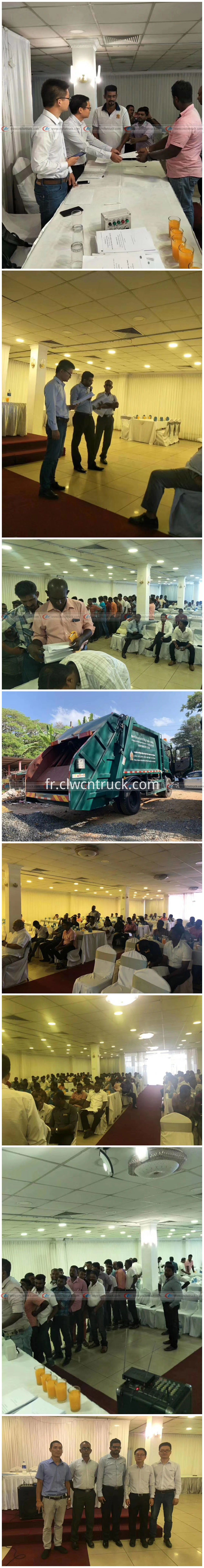 Site Training of Garbage Rear Loader