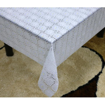 backsplash Printed pvc lace tablecloth by roll
