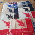 Custom Embroidery Wool Polyester Man's Square Scarf Fabric
