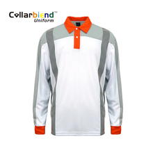 Reflective Quick Dry White Hi Vis Polo Shirt
