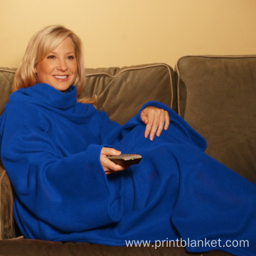 Fleece Blanket with Sleeve snuggie TV