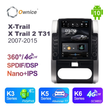 Ownice Octa 8 Core Android 10.0 Car Radio forNissan X-Trail X Trail 2 T31 2007-2015 GPS Multimedia Stereo Player Tesla Style