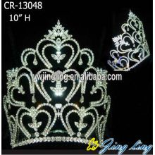 10 Inch Wholesale Rhinestone Crowns For Sale